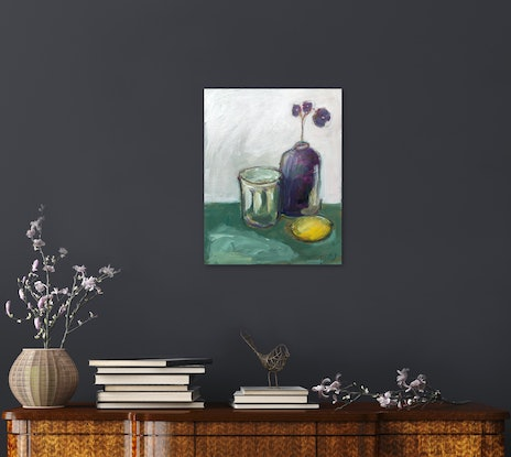 (CreativeWork) Easy Afternoons by Nicole Fearfield. Acrylic Paint. Shop online at Bluethumb.