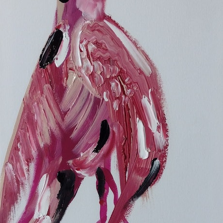 (CreativeWork) PINK LADY by STEPHEN Homewood. Mixed Media. Shop online at Bluethumb.