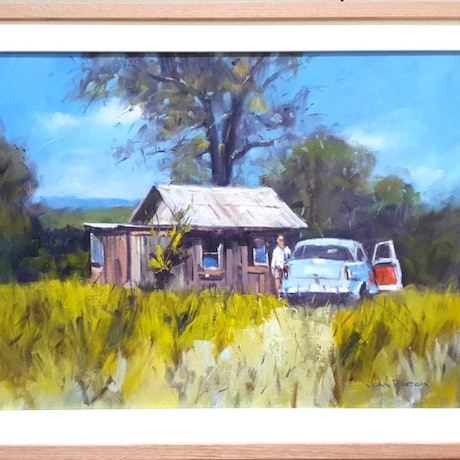 (CreativeWork) Country Life by John Pearson. Oil Paint. Shop online at Bluethumb.