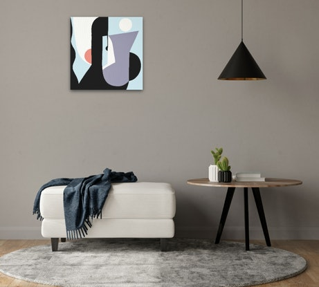(CreativeWork) Light on by Amy Kim. Acrylic Paint. Shop online at Bluethumb.