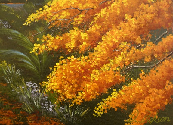 (CreativeWork) Autumn in the Dandenongs by Debra Dickson. Acrylic Paint. Shop online at Bluethumb.