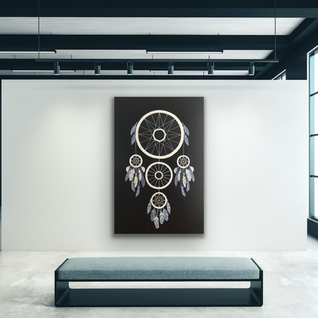 (CreativeWork) Giant dream catcher  by Tamara Klimova. Oil Paint. Shop online at Bluethumb.