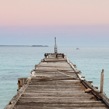 (CreativeWork) An isolated jetty Ed. 1 of 5 by Wendy Philip. Photograph. Shop online at Bluethumb.