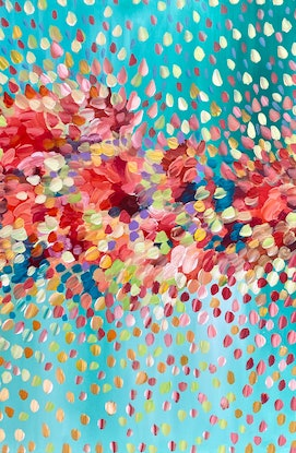 (CreativeWork) Spring Blossoms  by Theo Papathomas. Acrylic Paint. Shop online at Bluethumb.
