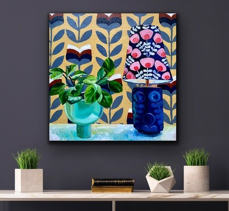 (CreativeWork) Retro times  by Alison Pilcher. Acrylic Paint. Shop online at Bluethumb.