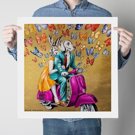 (CreativeWork) We are Gold Baby, Solid Gold  (Print)  by Gillie and Marc Schattner. Print. Shop online at Bluethumb.