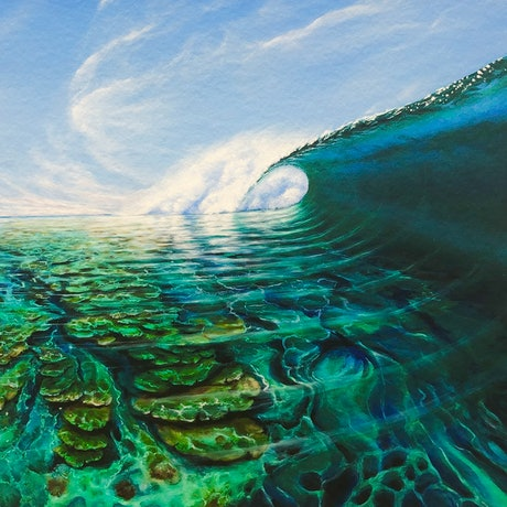 (CreativeWork) Pristine Waters Ed. 9 of 50 by Wayne French. Print. Shop online at Bluethumb.