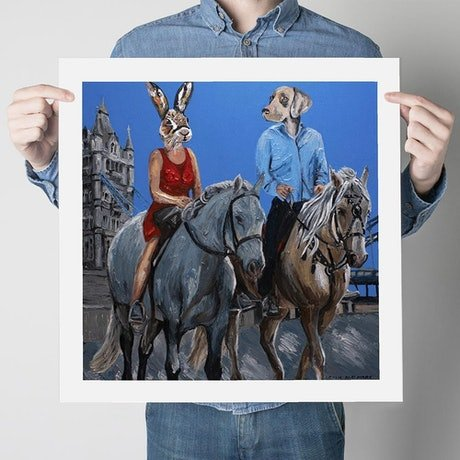 (CreativeWork) They Were the Riders of Love  (Print)  by Gillie and Marc Schattner. Print. Shop online at Bluethumb.