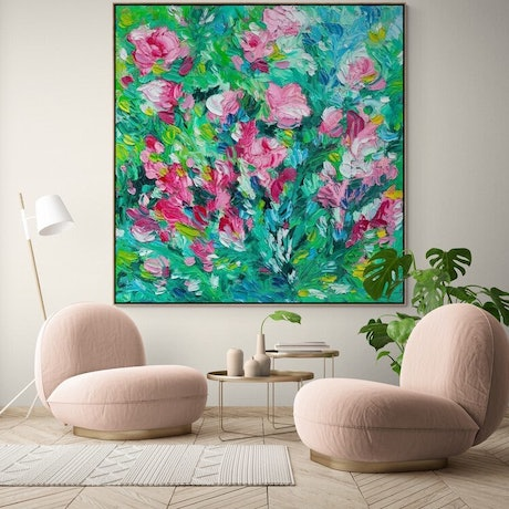 (CreativeWork) Utterly Romantic - Framed Limited Edition Print 180cm x 180cm  Ed. 1 of 100 by Belinda Nadwie. Print. Shop online at Bluethumb.