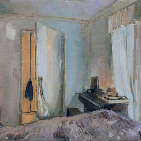 (CreativeWork) Stay In Bed by Shannah Mitchell. Oil Paint. Shop online at Bluethumb.