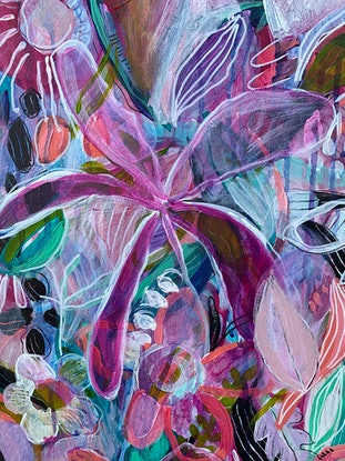 (CreativeWork) Contemplating nature  by Emma Hergstrom. Acrylic Paint. Shop online at Bluethumb.