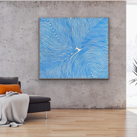 (CreativeWork) RDDNT BL by O. HIISI. Oil Paint. Shop online at Bluethumb.