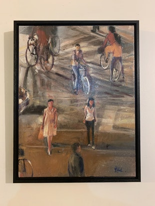 (CreativeWork) CrossWalk by Shannah Mitchell. Oil Paint. Shop online at Bluethumb.