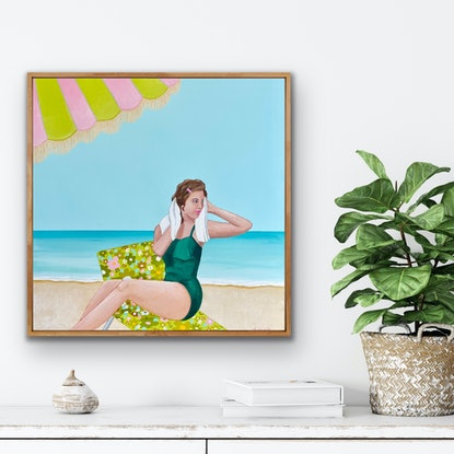 (CreativeWork) I Met You In The Waters by Anna Bektash. Acrylic. Shop online at Bluethumb.