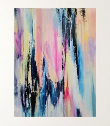 (CreativeWork) The Ups and Downs of Life by Clare Riddington Jones. Acrylic Paint. Shop online at Bluethumb.