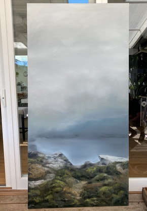 (CreativeWork) Through the looking glass by Annie Hawkins. Oil Paint. Shop online at Bluethumb.