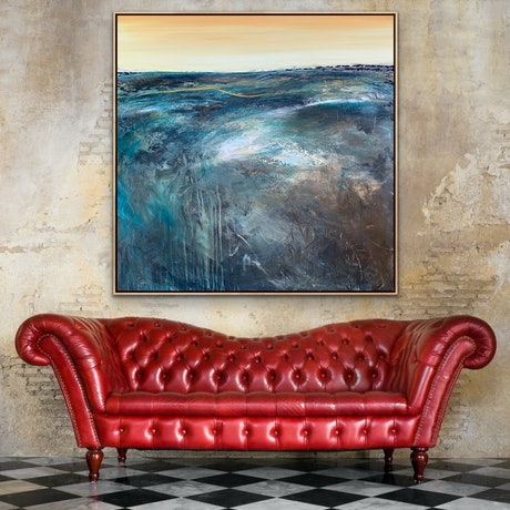 (CreativeWork) North East Of The Murray 91X91cm Large Textured by Tania Chanter. Acrylic Paint. Shop online at Bluethumb.