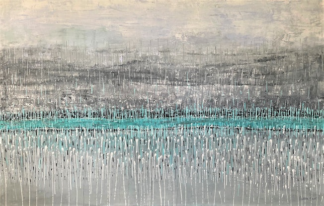 (CreativeWork) New Beginnings by natalie green. Mixed Media. Shop online at Bluethumb.