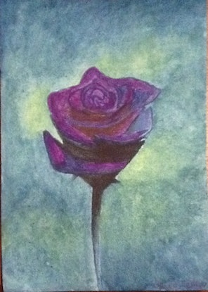 (CreativeWork) Rose by Coco Tokyo. Watercolour Paint. Shop online at Bluethumb.