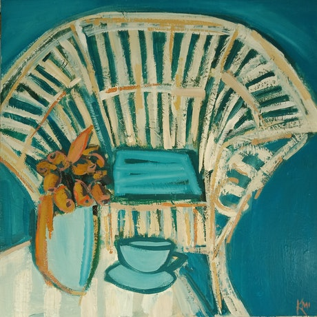 (CreativeWork) EASY CHAIR by Karen McPhee. Acrylic Paint. Shop online at Bluethumb.