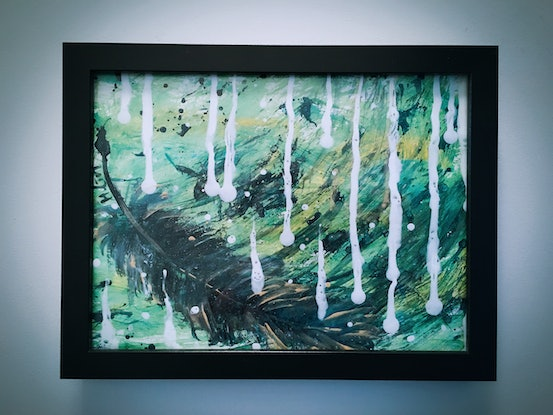 (CreativeWork) AT THE VERY BEGINNING - Framed by HSIN LIN. Acrylic Paint. Shop online at Bluethumb.
