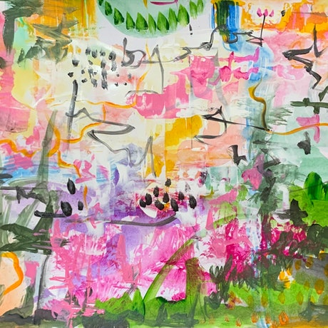 (CreativeWork) Enchanted Forest by Aditya Singh. Acrylic Paint. Shop online at Bluethumb.