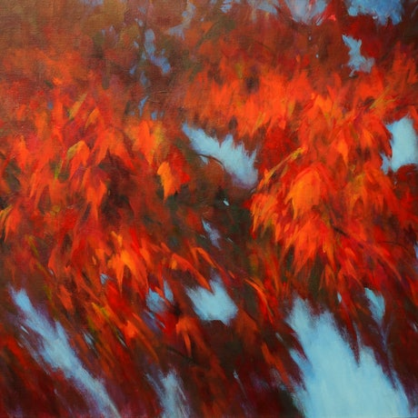 (CreativeWork) Autumn Boughs by Sandra Michele Knight. Acrylic Paint. Shop online at Bluethumb.