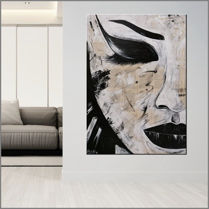 (CreativeWork) Tranquil Memoirs 140cm x 100cm Geisha Abstract Realism Book Pages Acrylic Gloss Finish FRANKO by _Franko _. Mixed Media. Shop online at Bluethumb.