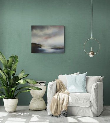 (CreativeWork) Tranquil Waters by Elaine Green. Oil Paint. Shop online at Bluethumb.