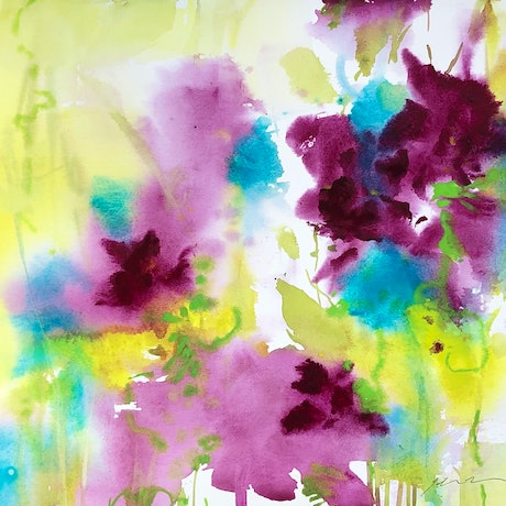 (CreativeWork) A Delightful Flurry by Jill Bryant. Watercolour. Shop online at Bluethumb.