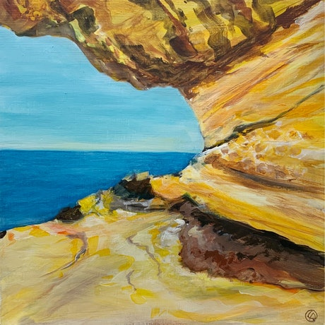 (CreativeWork) Whale watching by Linden Abbot. Acrylic Paint. Shop online at Bluethumb.