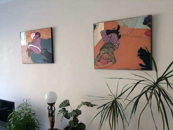 (CreativeWork) 'Coco interior' by Mark Ewenson. Mixed Media. Shop online at Bluethumb.
