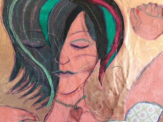(CreativeWork) 'Jean'  by Mark Ewenson. Mixed Media. Shop online at Bluethumb.