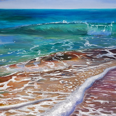 (CreativeWork) Flow by Kathy Bierma. Acrylic Paint. Shop online at Bluethumb.