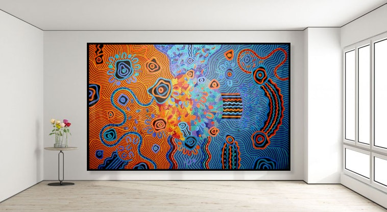 (CreativeWork) My Home by Kelilah Taylor-Ware. Acrylic Paint. Shop online at Bluethumb.
