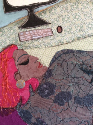 (CreativeWork) 'Computer Woman' by Mark Ewenson. Mixed Media. Shop online at Bluethumb.