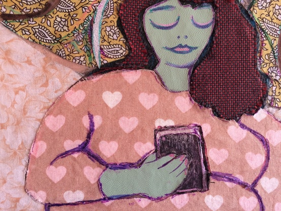 (CreativeWork) 'With Their Phone'  by Mark Ewenson. Mixed Media. Shop online at Bluethumb.