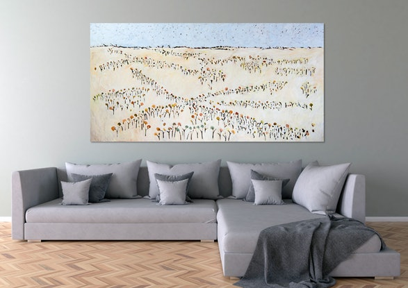 (CreativeWork) Nuggetty Hills I 5-21 by Michael Wolfe. Acrylic Paint. Shop online at Bluethumb.