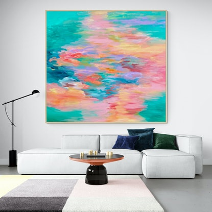 (CreativeWork) Sunset Reflections  by Theo Papathomas. Acrylic Paint. Shop online at Bluethumb.