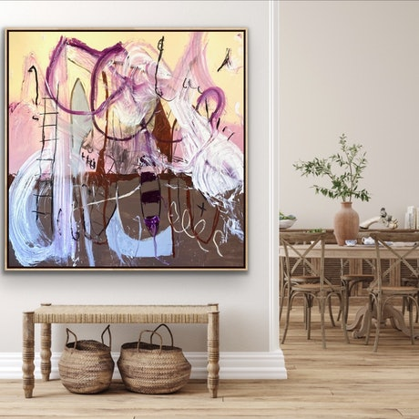 (CreativeWork) Grenache  by Shane Bowden. Mixed Media. Shop online at Bluethumb.