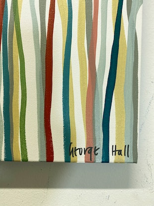 (CreativeWork) The Waltzing Yarrabee - 152 x 61cm - acrylic on canvas by George Hall. Acrylic Paint. Shop online at Bluethumb.