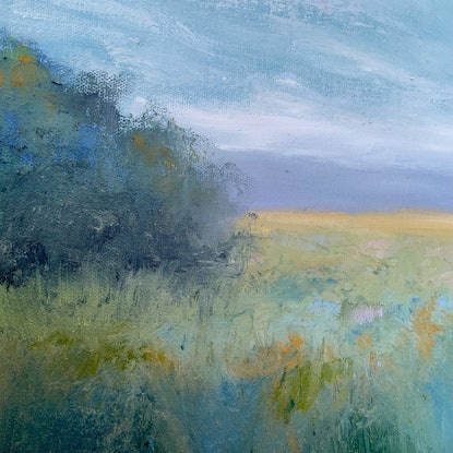 (CreativeWork) In The Meadow  by Jessica Davidson. Oil Paint. Shop online at Bluethumb.