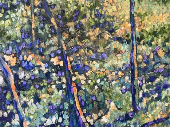 (CreativeWork) Afternoon bushwalking  by sue bannister. Oil Paint. Shop online at Bluethumb.