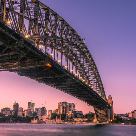 (CreativeWork) Sydney Harbour Bridge - Blue Hour Ed. 1 of 40 by Neil Hendry. Photograph. Shop online at Bluethumb.
