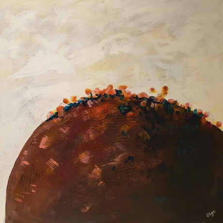 (CreativeWork) On the Top of the Hill by Olga Megele. Acrylic Paint. Shop online at Bluethumb.