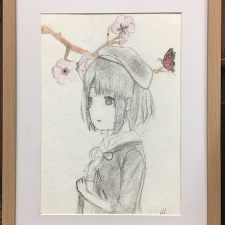 (CreativeWork) Ava by Harriet Lionheart. Drawings. Shop online at Bluethumb.