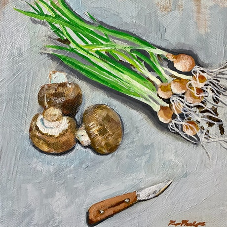 (CreativeWork) Swiss Browns - Original by Pip Phelps. Acrylic Paint. Shop online at Bluethumb.
