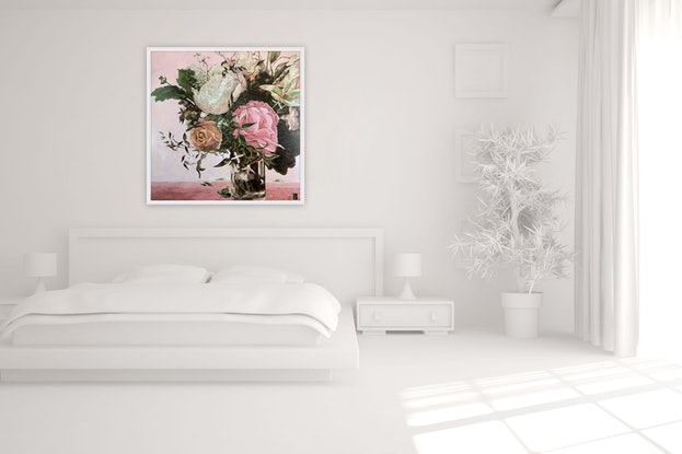 (CreativeWork) Serene Peonies (canvas print) Ed. 1 of 100 by JULIE LYNCH. Print. Shop online at Bluethumb.