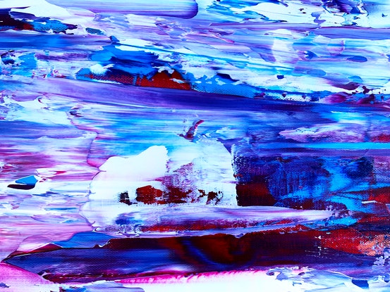 (CreativeWork) Blue Skies Ahead by Estelle Asmodelle. Acrylic Paint. Shop online at Bluethumb.