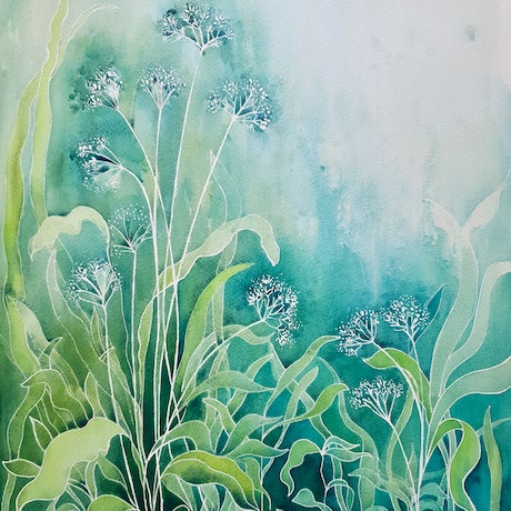 (CreativeWork) Lilly of the Valley by Lucinda Leveille. Watercolour Paint. Shop online at Bluethumb.